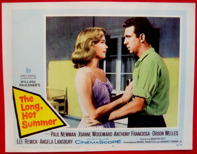 Tony Franciosa Long Hot Summer 1958 lobby card movie poster Lee Remick