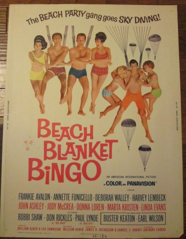 Beach Blanket Bingo - 30x40 Movie Poster - Avalon - Annette Funicello