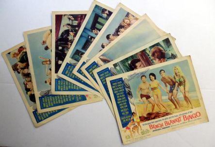 BEACH BLANKET BINGO '65 Film LOBBY CARDS w: ANNETTE FUNICELLO Autograph2