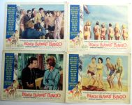 BEACH BLANKET BINGO '65 Film LOBBY CARDS w: ANNETTE FUNICELLO Autograph4