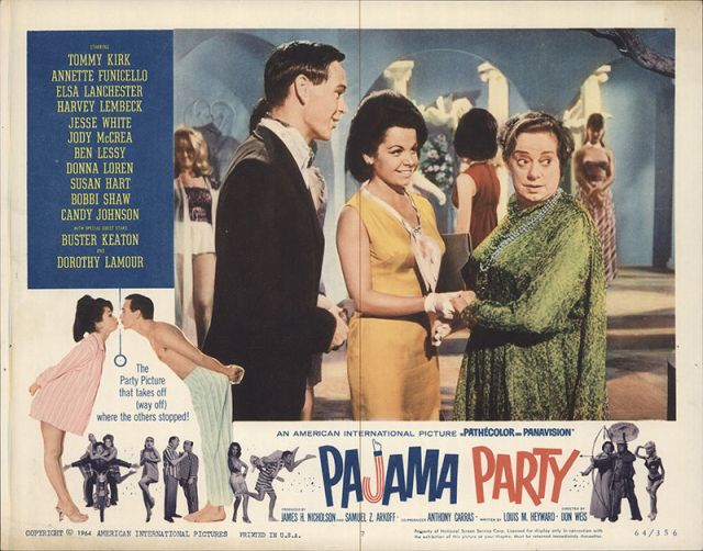 Pajama Party 1964 Original Movie Poster Comedy Musical Romance