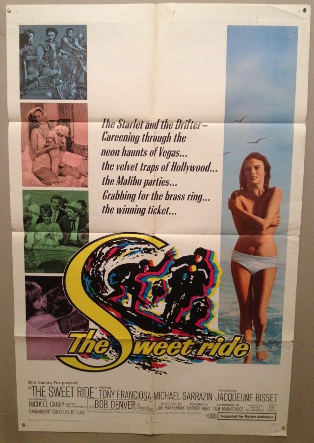 SWEET RIDE Original One Sheet Movie Poster 27x41 1968