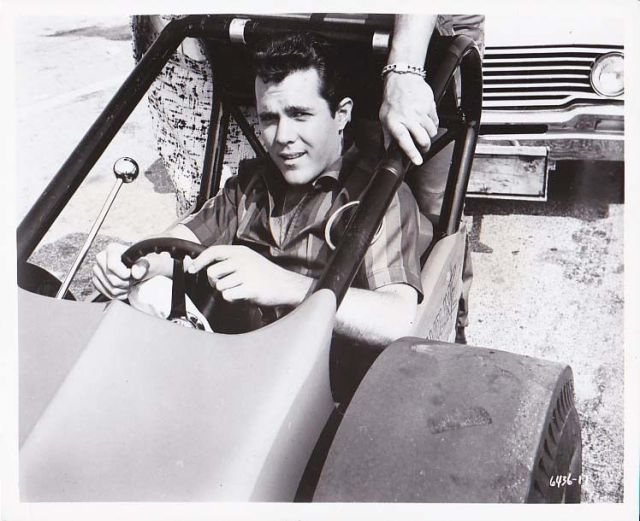 BIKINI BEACH, Original 1964 John Ashley in Dragster, AIP Teen Film Photo #3