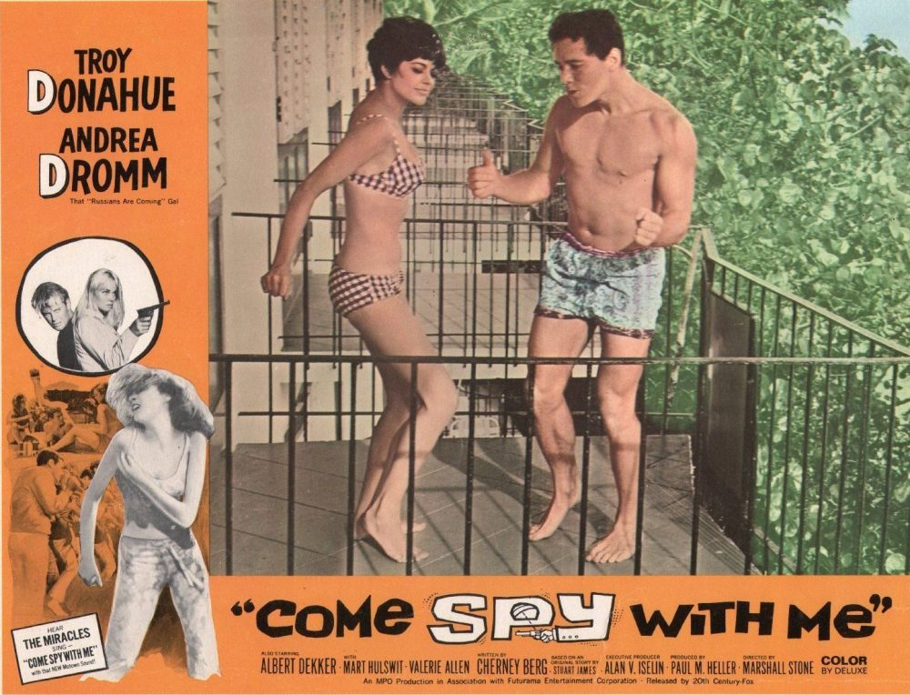 COME SPY WITH ME - 11X14 LOBBY CARD - 1967 - DANCING ON PATIO