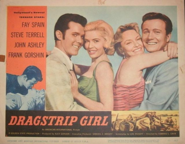 DRAGSTRIP GIRL FAY SPAIN STEVE TERRELL JOHN ASHLEY ORIGINAL 1957 RELEASE!