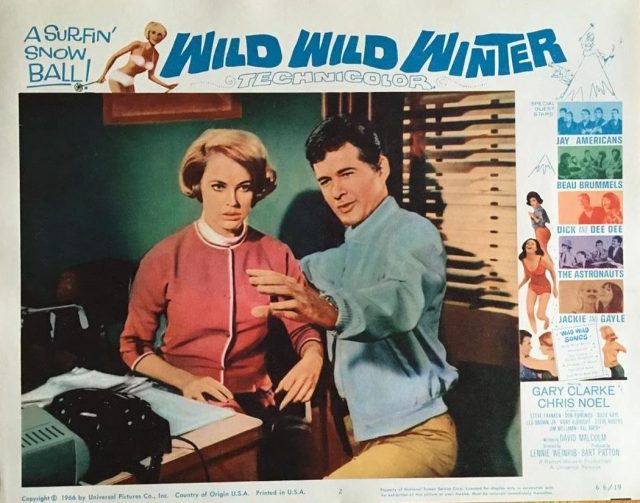 Gary Clarke and Chris Noel Wild Wild Winter 1966 #2 lobby card photo still 175