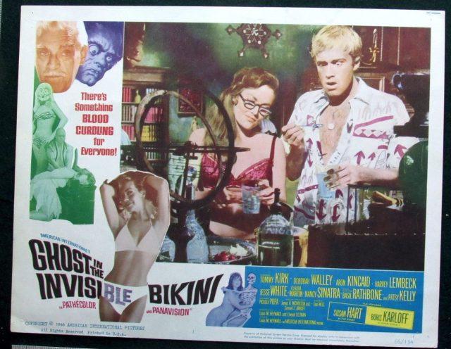 Ghost in the Invisible Bikini SCI-FI Horror Lobby Card 1966 Quinn O'Hara