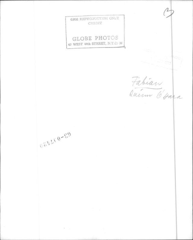 Quinn O'Hara Fabian Forte with Quinn O'Hara, 1963b