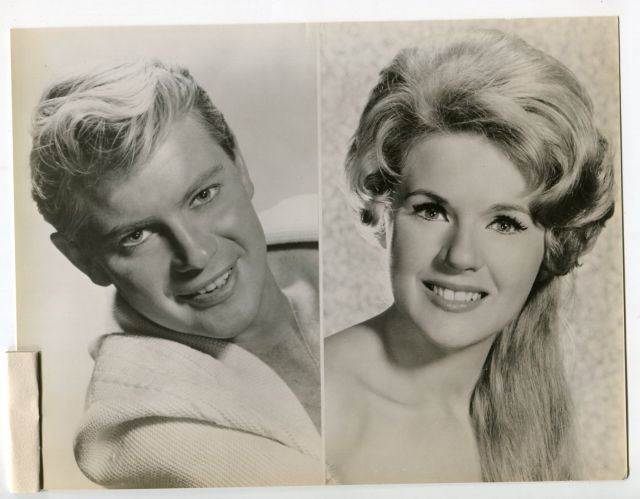 Troy Donahue-Connie Stevens-7x9-B&W-Still-V