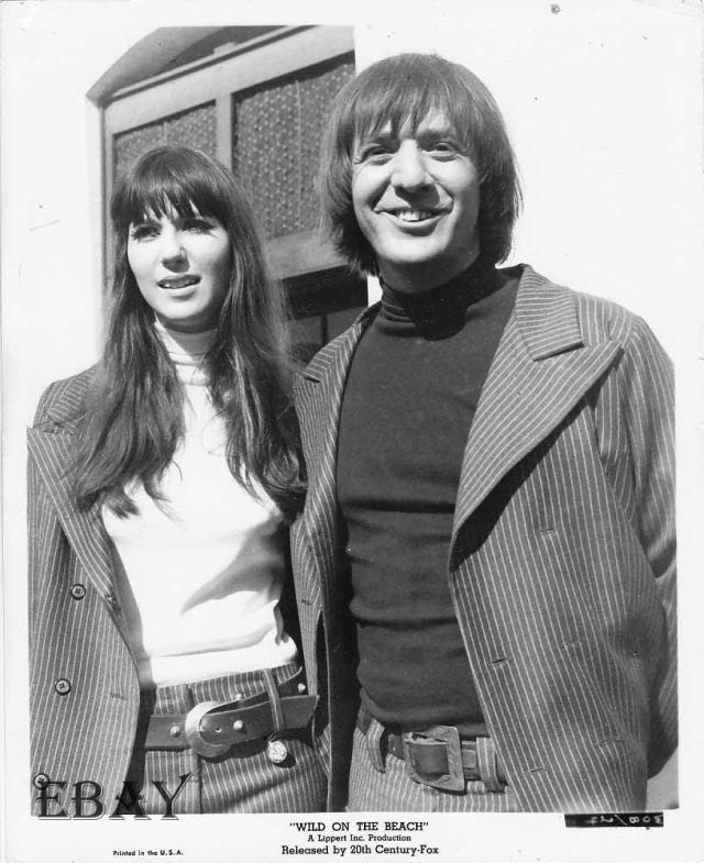 Wild On The Beach Sonny And Cher VINTAGE Photo Wild On The Beach