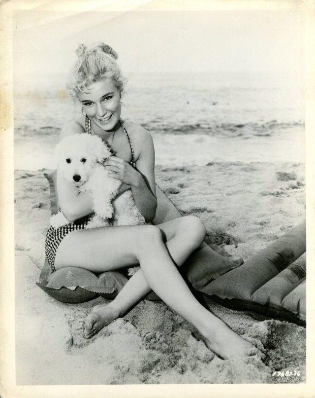 YVETTE MIMIEUX in Where The Boys Are '60 DOG SWIMSUIT SEXY LEGS
