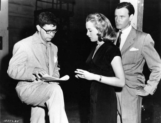 "Don Weis directing Janet Leigh and Richard Anderson in ""Just This Once"" 1952"