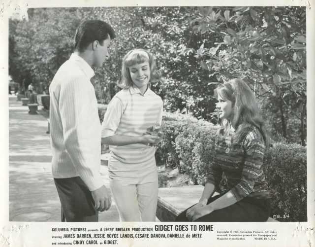 Gidget Goes To Rome '63 DANIELLE DE METZ CINDY CAROL BLONDE JAMES DARREN