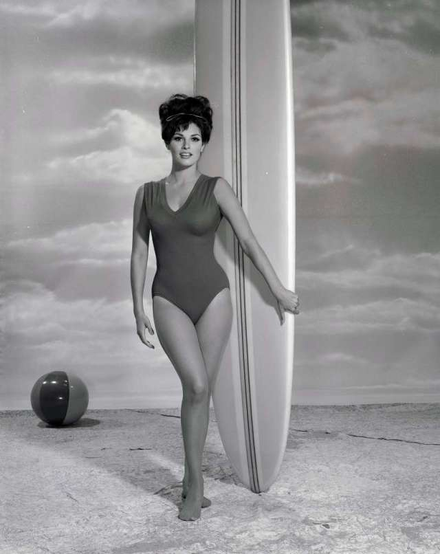 Raquel Welch surfboard