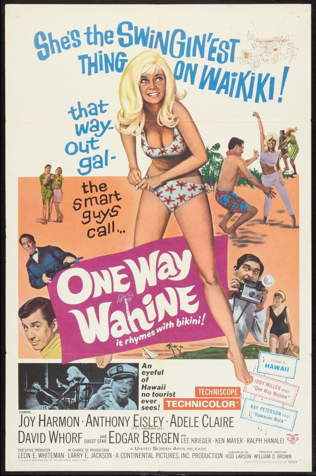 one-way-wahine-orig-1965-movie-poster-sexy-joy-harmonoahu-hawaiilanakai-beach