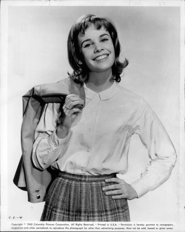 1963 Press Photo Cindy Carol New Gidget Theaters TV Radio Goes Rome Comedy 8X10a
